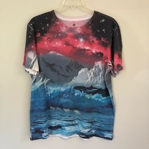 On The Byas galaxy arctic wolves shirt